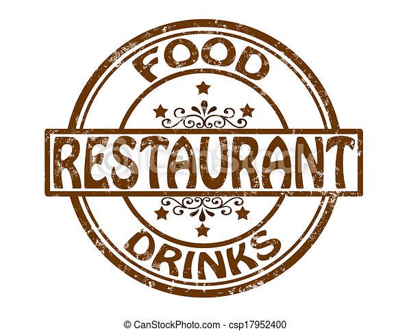 restaurant stamp with word restaurant inside vector illustration