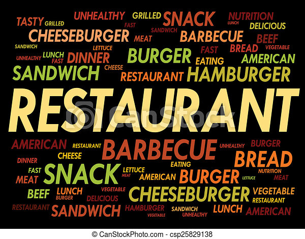 restaurant word cloud fast food concept