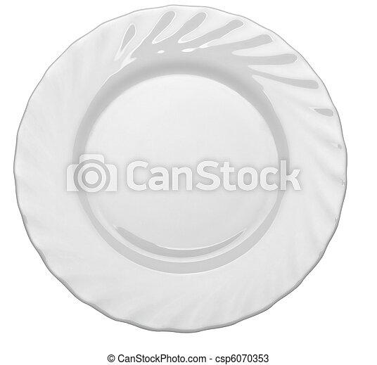 Comida de restaurantes vacías - csp6070353
