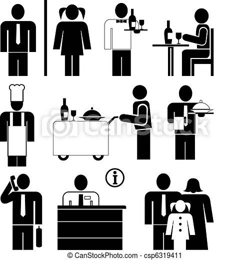 iconos de restaurante - csp6319411