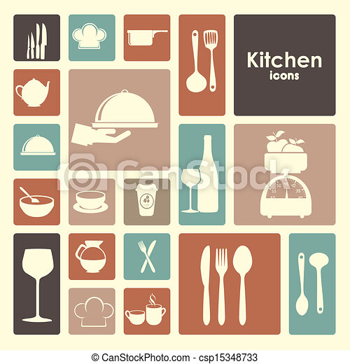 iconos de restaurante - csp15348733