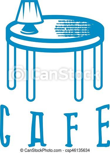 Lámpara y diseño de restaurantes - csp46135634