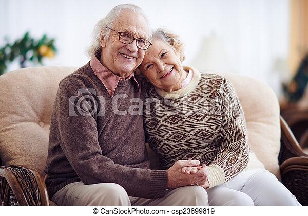 Restful grandparents - csp23899819