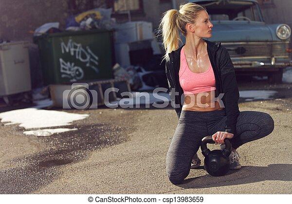 Resting After A Tiring Kettlebell Workout