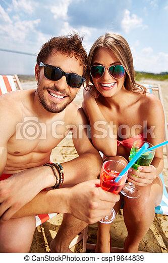 Resting on beach - csp19644839