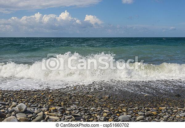 Restless Black Sea and blue sky - csp51660702