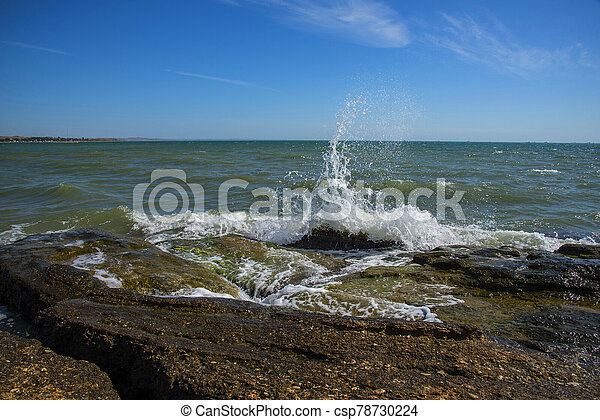 Restless Black Sea, Crimea - csp78730224