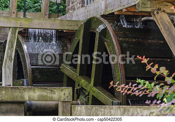 Restored Mill Wheel of an old Water Mill - csp50422305