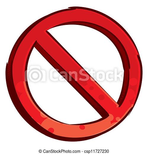Simbolo restringido - csp11727230