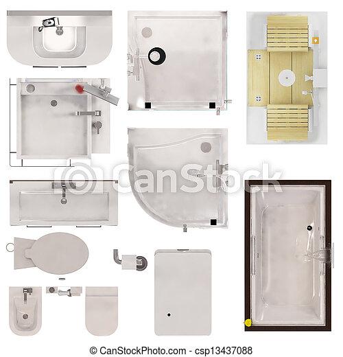 Restroom Fixtures - csp13437088