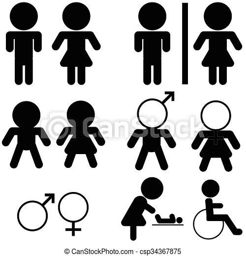 restroom icon - csp34367875
