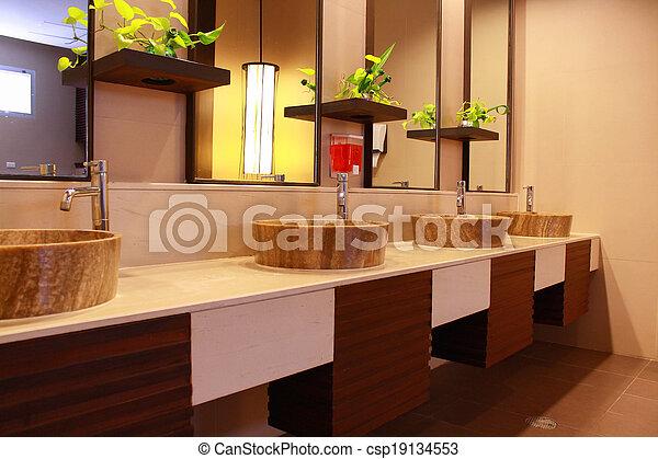 restroom interior - csp19134553