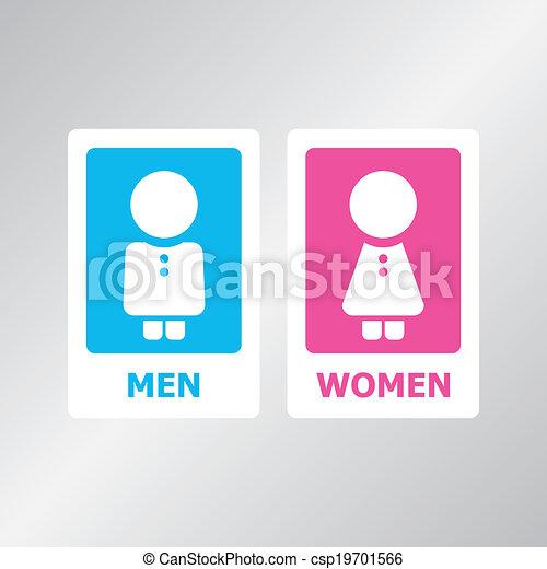 Restroom Sign - csp19701566