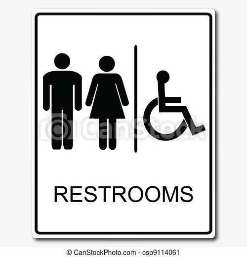 Bathroom Sign Vector restroom sign illustration vector clip art - search illustration