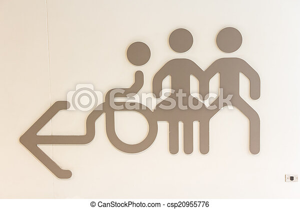restroom sign on the wall - csp20955776