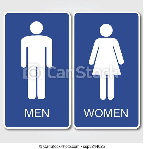restrooms, meldingsbord - csp5244625