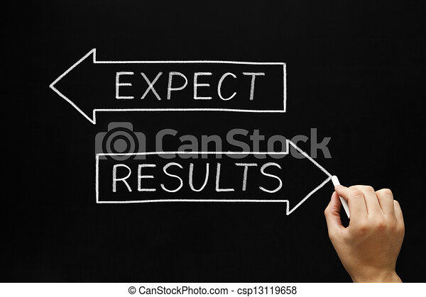 Results and Expectations Concept - csp13119658