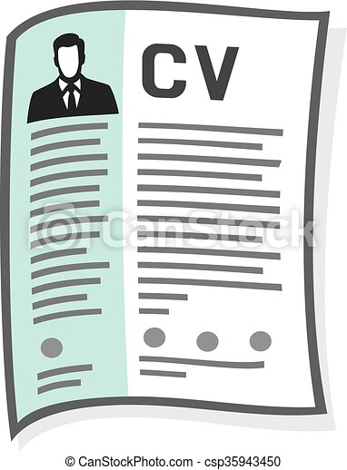 Resume And Cv Icon Curriculum Vitae Icon