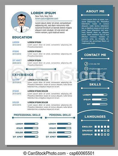 Resume And Cv Template With Nice Design
