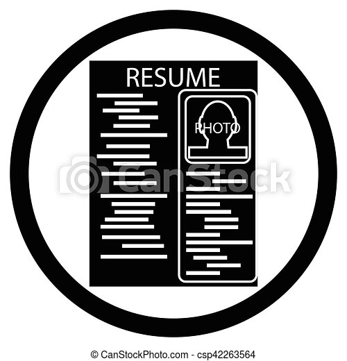 Resume Black White Icon Cv Icon And Paper Career Icon Resume