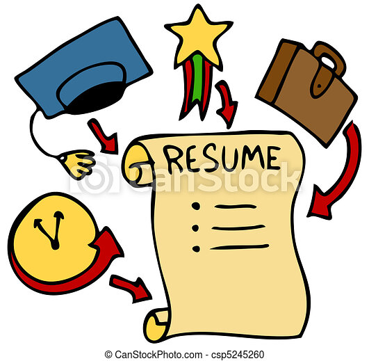 Resume categories. An image of a resume history, education ...