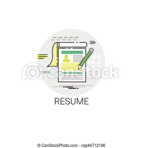 Resume Cv Form Job Vacancy Recruitment Application Icon Vector