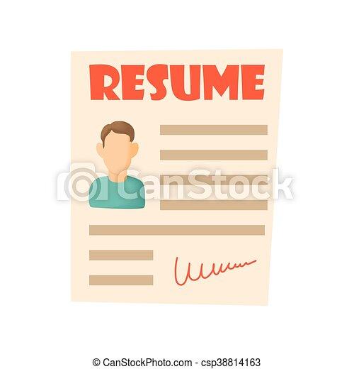 resume icon cartoon style csp38814163 - Resume Icon