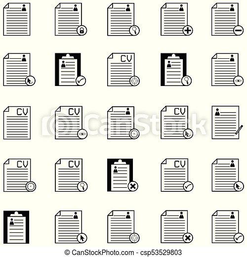 Resume Icon Set