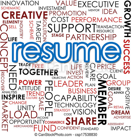 Resume word cloud drawings - Search Clipart, Illustration, and EPS ...
