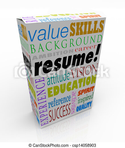 resume word product box best candidate experience stock