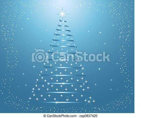 Abstrae el árbol de Navidad - csp0837420