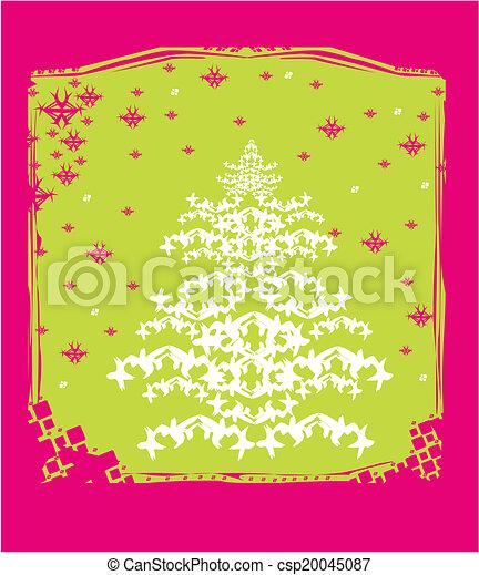 Tarjeta abstracta del árbol de Navidad - csp20045087