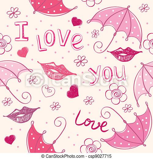 Un fondo abstracto del amor - csp9027715