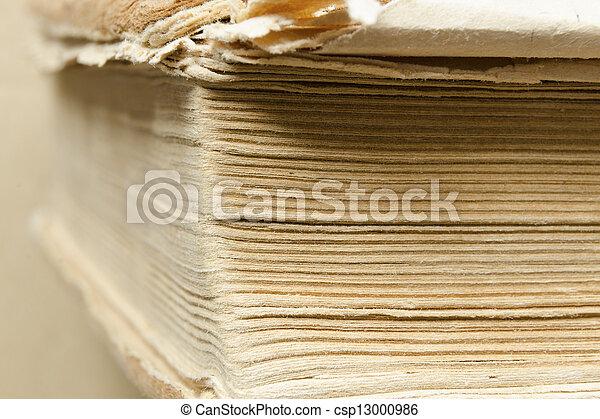 Libro antiguo abstracto - csp13000986