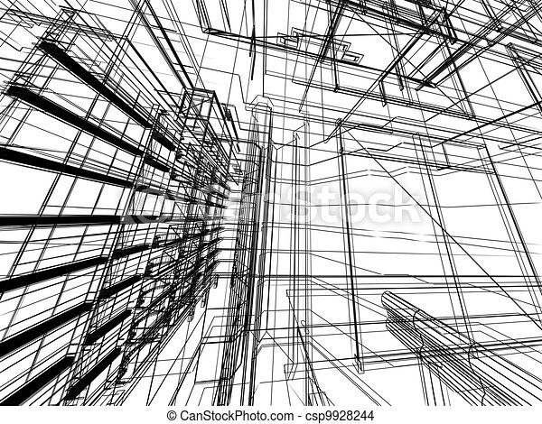 Arquitectura abstracta - csp9928244
