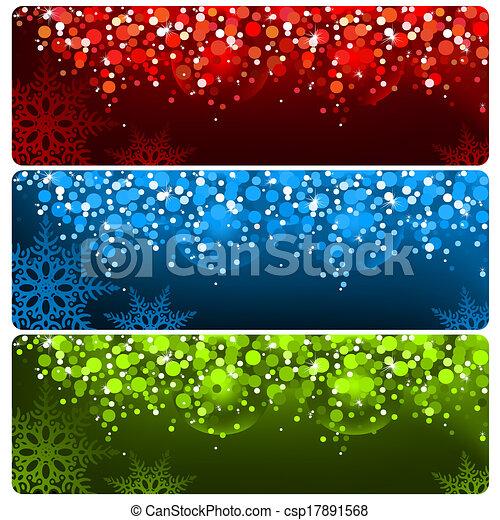 Abstraer estandarte navideño - csp17891568