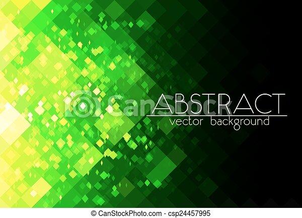 Plataforma verde brillante de fondo horizontal abstracto - csp24457995
