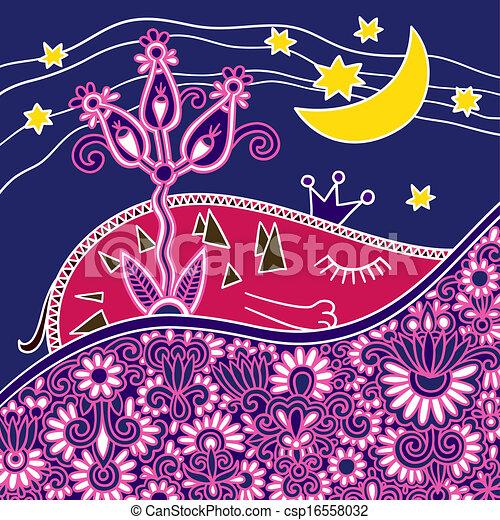 Buenas noches composición abstracta - csp16558032