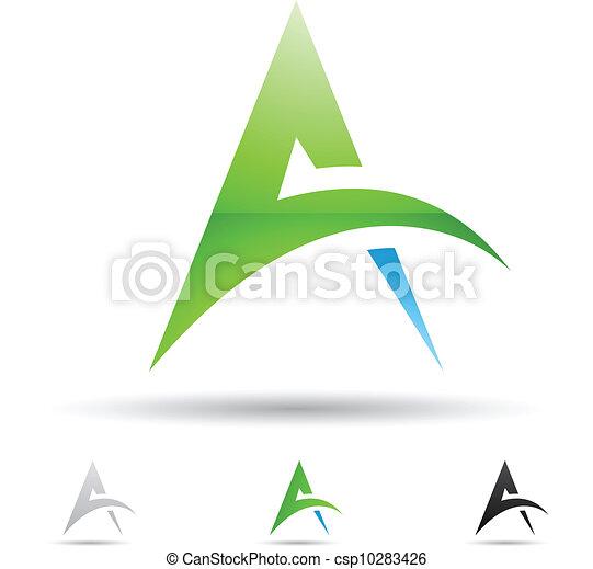 icono abstracto por letra A - csp10283426