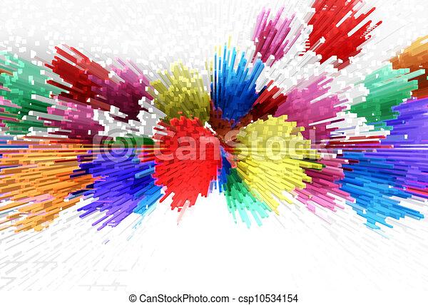 resumen, colorido, plano de fondo - csp10534154