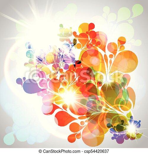 Antecedentes abstractos y coloridos - csp54420637