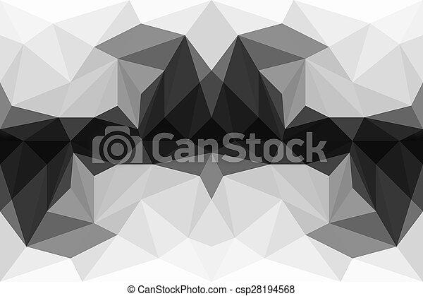 Fondo abstracto de poligon colorido - csp28194568