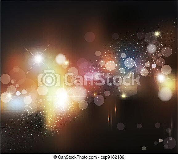 Trasfondo abstracto vector con luces borrosas desfocadas - csp9182186