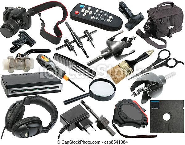 resumen, conjunto, negro, objetos - csp8541084