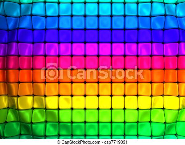 resumen, cubo, colorido, plano de fondo, onda - csp7719031