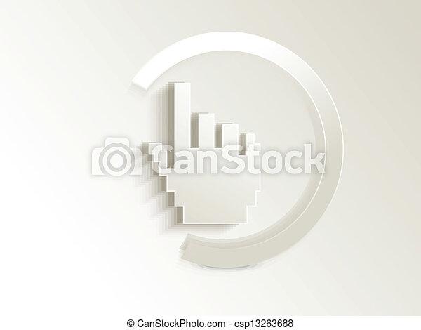 Abstracto vector de botón superficial - csp13263688