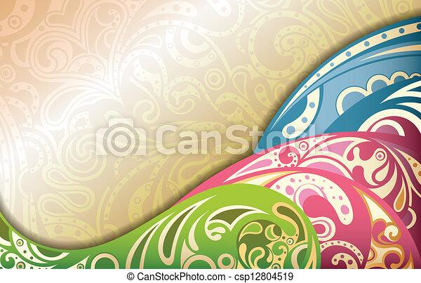 Curva abstracta - csp12804519