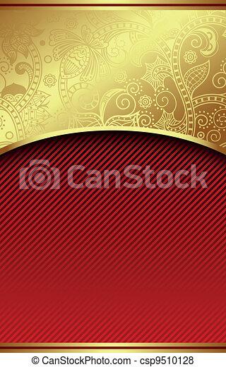 Trasfondo de curva roja abstracta - csp9510128