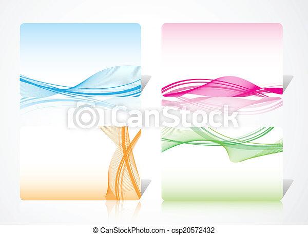 Tarjeta abstracta dinámica - csp20572432