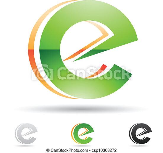 icono abstracto para la letra E - csp10303272